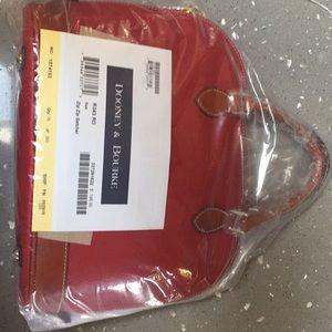 Dooney and Bourke red satchel with shoulder strap